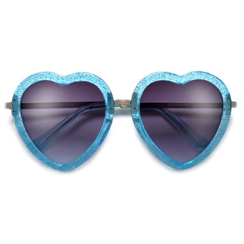 Cute Valentines Day Heart Shaped Clear Glasses