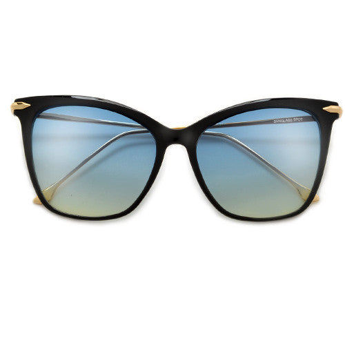 57mm Oversize Retro Cat Silhouette Sunnies