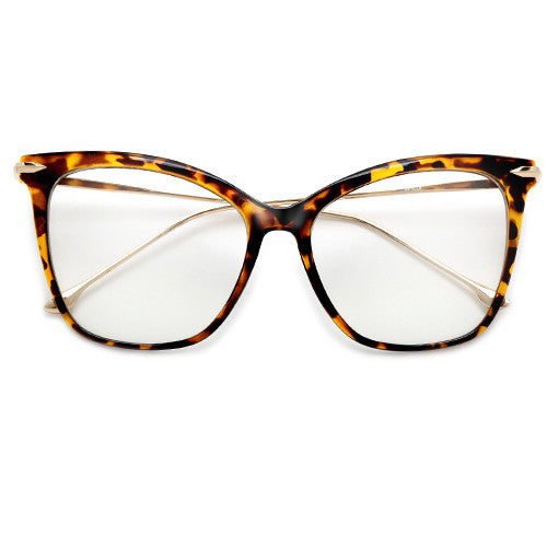 57mm Oversize Retro Cat Silhouette Clear Lens Eyewear