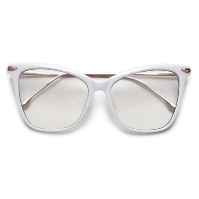 57mm Oversize Retro Cat Silhouette Blue Light Blocking Eyewear - Sunglass Spot