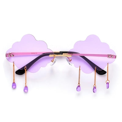 Rainy Day Mood Sprinkling Cloud Sunnies - Sunglass Spot