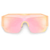 Flat Browline Retro Chic Side Temple Lens Shields