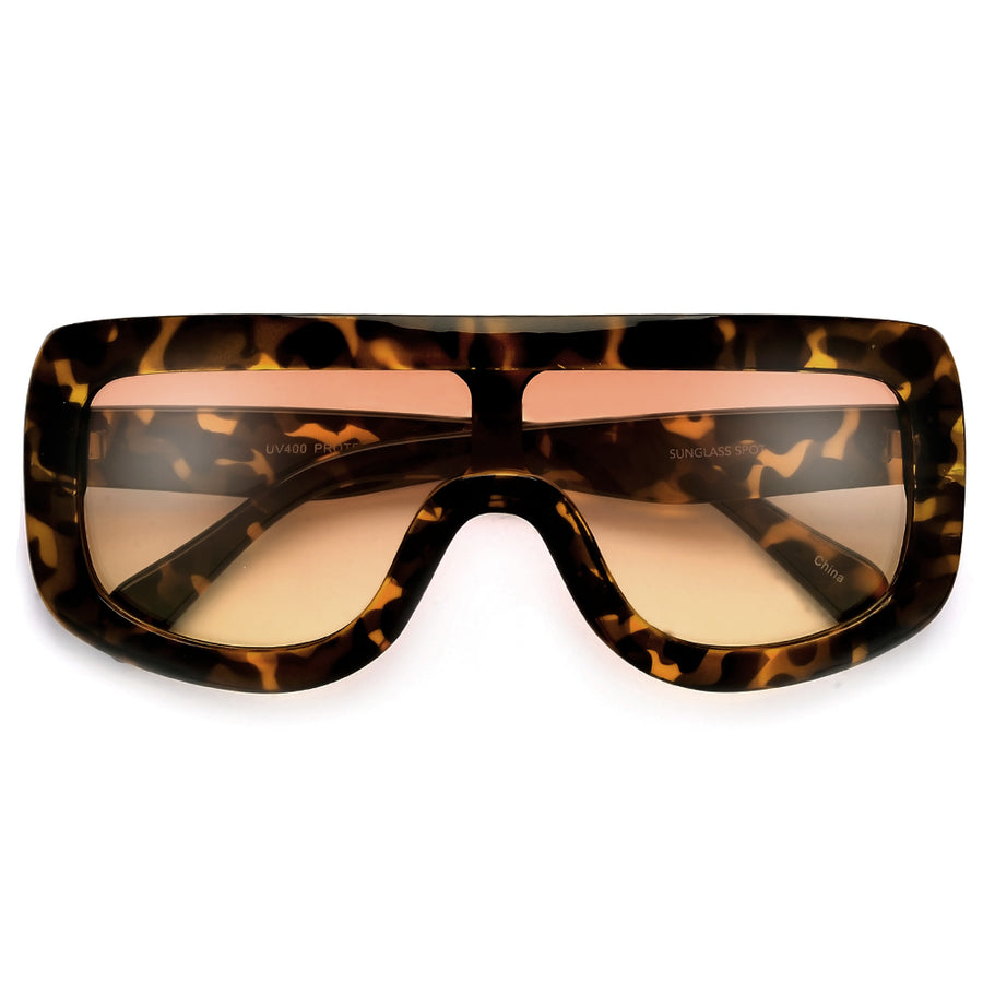 4d97edce23c Oversize 138mm Bold Thick Shield Sunnies