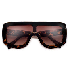 Oversize 138mm Bold Thick Shield Sunnies