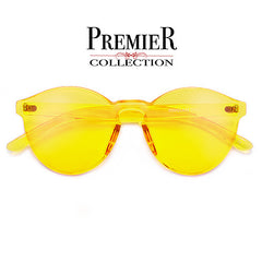 Premier Collection-Colorful Bright Frameless Bold Aesthetic Cat Eye Silhouette Sunnies