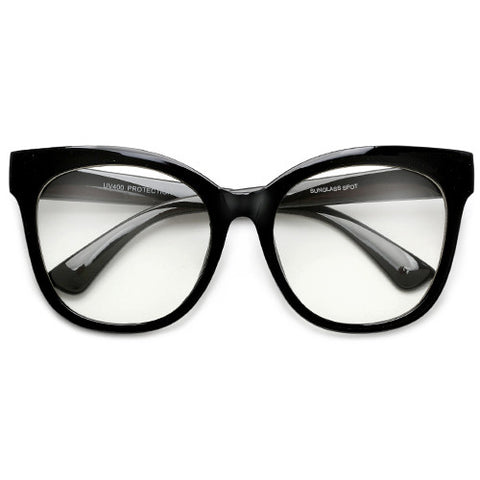 70's Inspired Oversize Thick Bold Exaggerated Cat Eye Silhouette Sunglasses