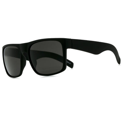 Oversized Full Coverage Rubberized Matte Frame Dark Shades - Sunglass Spot