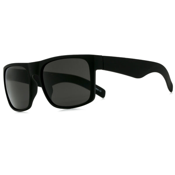 Oversized Full Coverage Rubberized Matte Frame Dark Shades