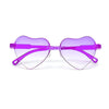 Oversize Squared Off Semi Rimless Forked Temple Sunnies - Sunglass Spot
