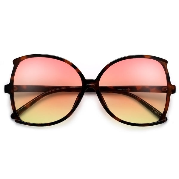 Oversize 62mm Women's Sophisicated Glam Butterfly Sunglasses