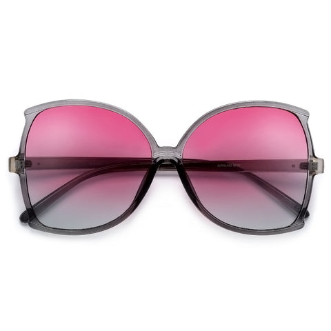 Oversized Summer Bright Colorful Shield Sunnies