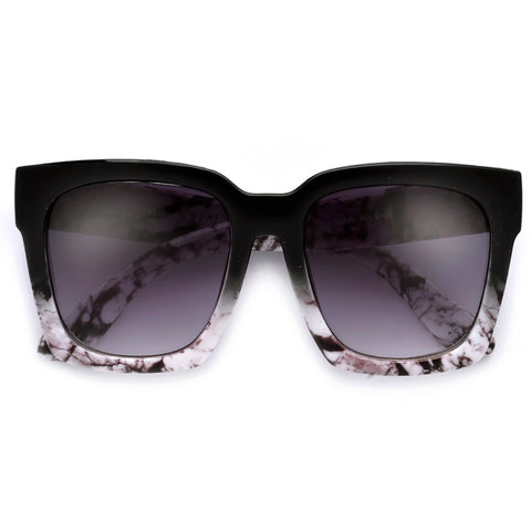 Sleek Attractive Butterfly Marble Frame Couturier Design Sunglasses