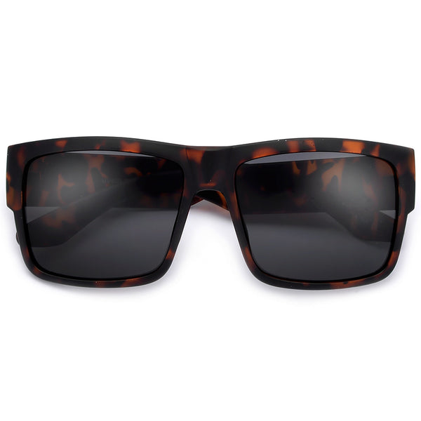 Sleek 58mm Square Frame Daily Dark Shades