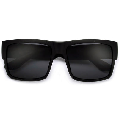Sleek 58mm Square Frame Daily Dark Shades - Sunglass Spot