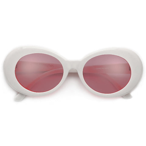 Audaciously Oversized Round Cutting Edge Stylish Sunglasses
