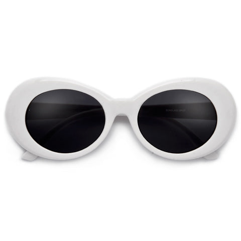 Round Rimless Shield Summer Bright Sunnies