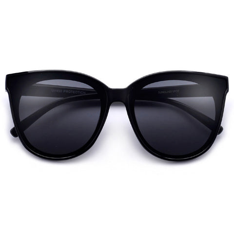 Oversize Retro Glam Chic Half Frame Cat Eye Sunglasses