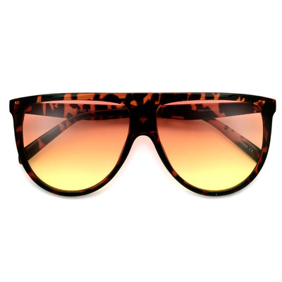 61mm Oversize Modern Flat Top Thin Lightweight Aviator - Sunglass Spot