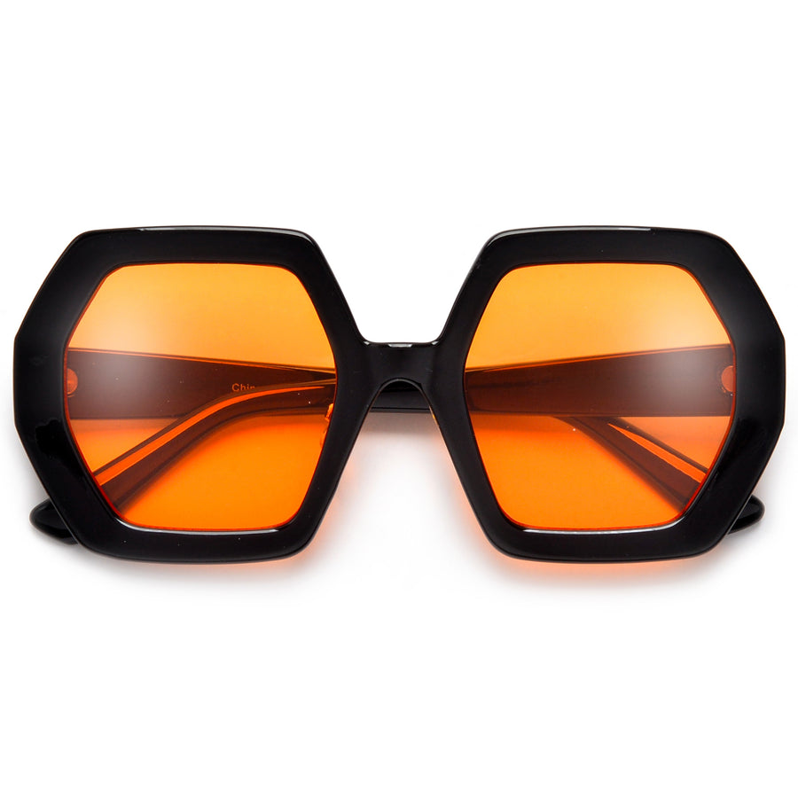 Oversize Thick Funky Geometric Sunnies
