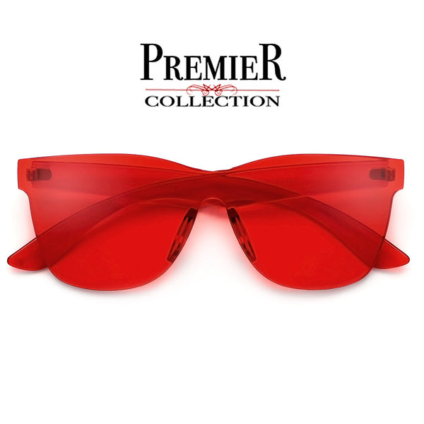 Premier Collection-Colorful Bright Frameless Bold Aesthetic Wayfarer Silhouette Sunnies