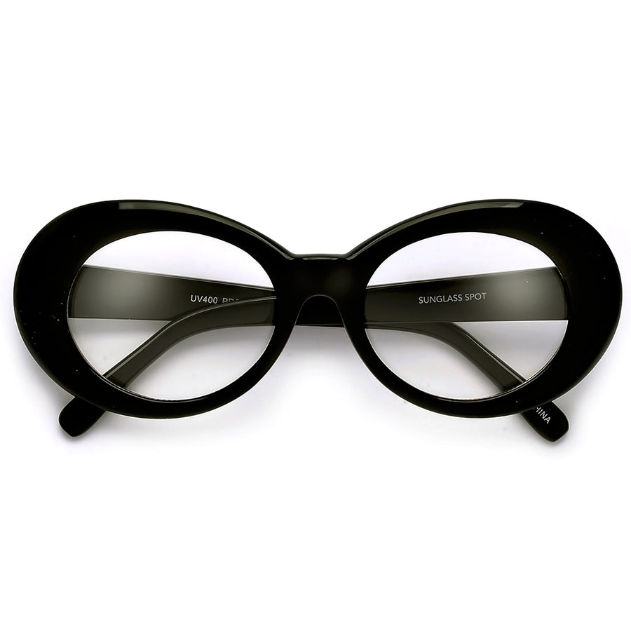 405903b2c4 Vintage Inspired Oval Cobain Clout Clear Eyewear
