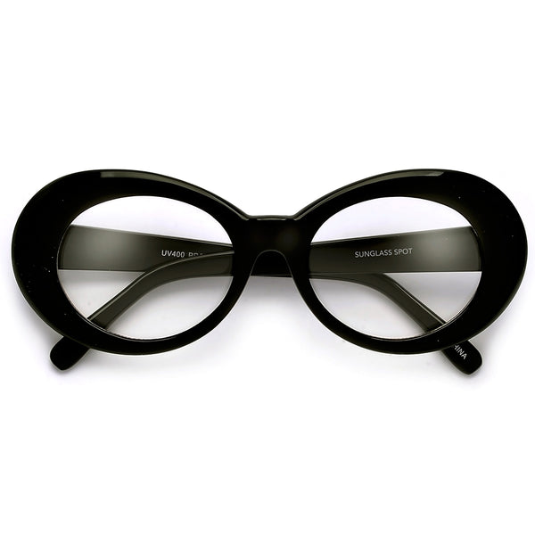 Vintage Inspired Oval Cobain Clear Eyewear