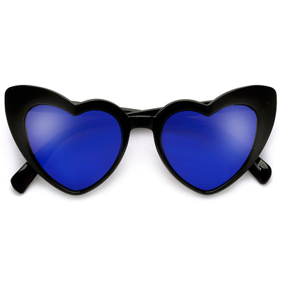 Lovestruck High Tip Cute Heart Sunglasses - Sunglass Spot