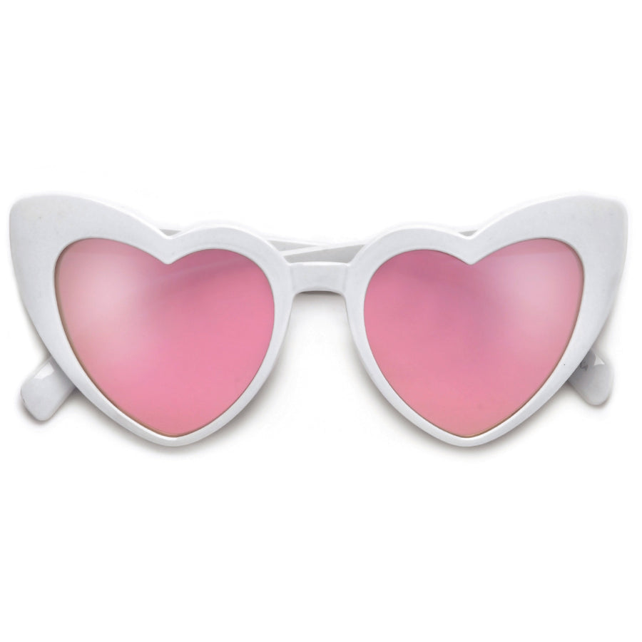 Lovestruck High Tip Cute Heart Sunglasses