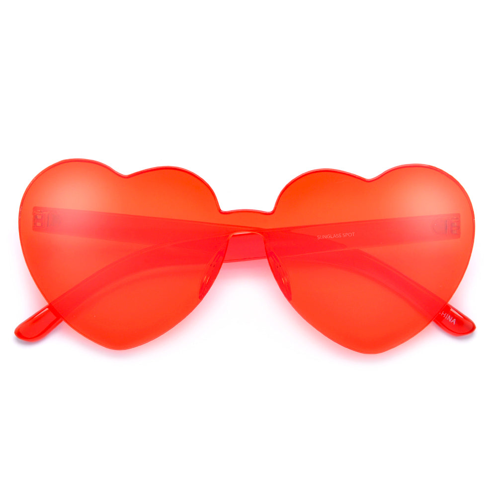 Ultra Adorable Solid Heart Block Sunnies