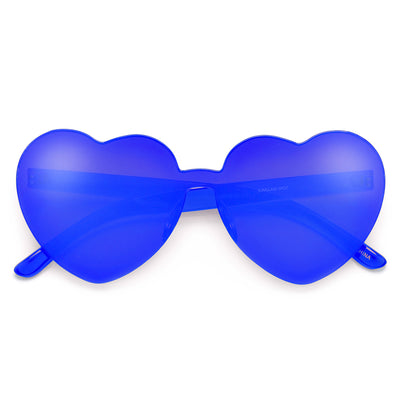 Ultra Adorable Solid Heart Block Sunnies - Sunglass Spot