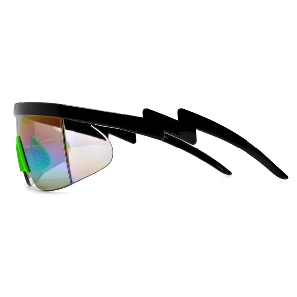 Electric Bolt Wrap Around Shield Shades