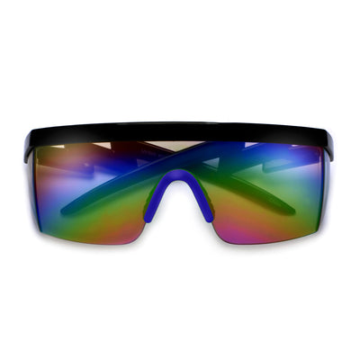 Electric Bolt Wrap Around Shield Shades - Sunglass Spot