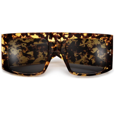 Wraparound Futuristic Sporty Shield Sunglasses - Sunglass Spot