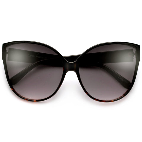 Retro High Pointed Open Tip Sultry Cat Eye Sunglasses