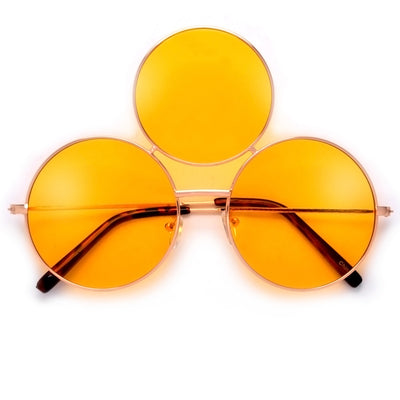 Quirky Triple Round Lens Eccentrically Fun Sunglasses - Sunglass Spot