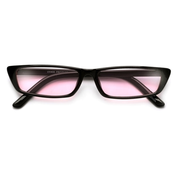 90s Vibe Slim Rectangular Silhouette Sunnies