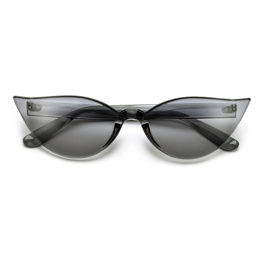 THICK BLOCKY RETRO CAT EYE SUNGLASSES
