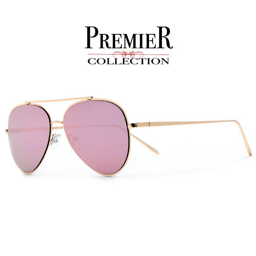 Premier Collection-Oversize Modern Teardrop Rose Pink Retro Appeal Classic Aviator