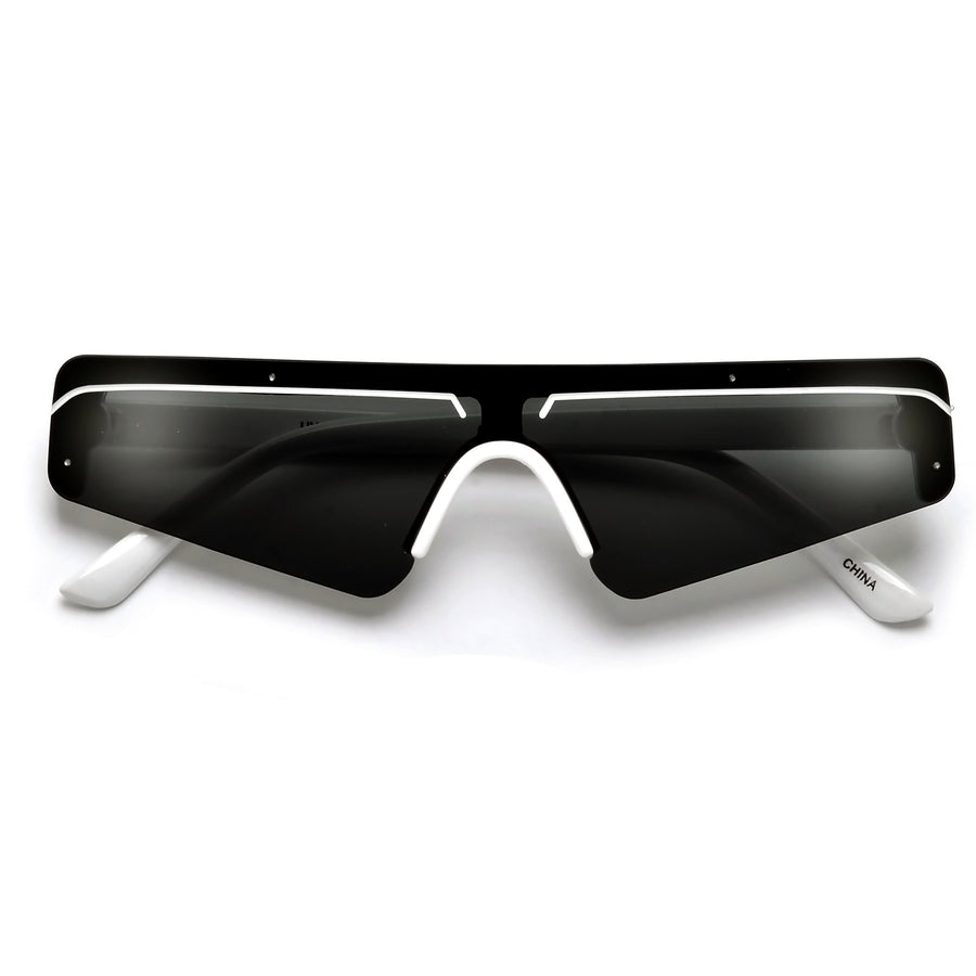 Bold Retro Futuristic Sleek Shield Sunnies