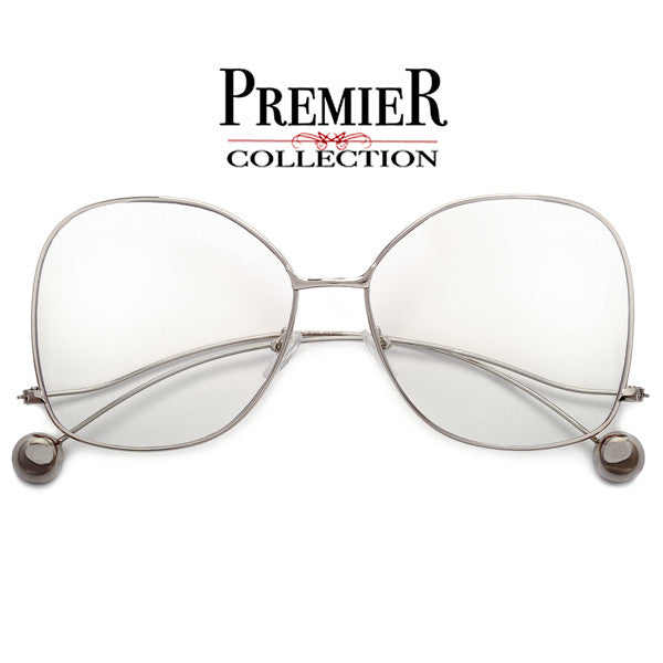 Elegant Butterfly Frame Pearl Tip Temple Glam Fashion Eyewear