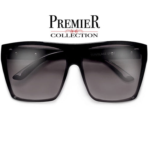 Premier Collection-58mm Perfect Fit Elegant Modern Crossover Browbar Women's Sunglasses