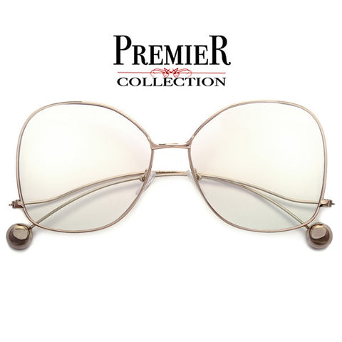 Premier Collection-Slim Ultra Light 59mm Everyday Elegance Cat Eye Silhouette Sunglasses