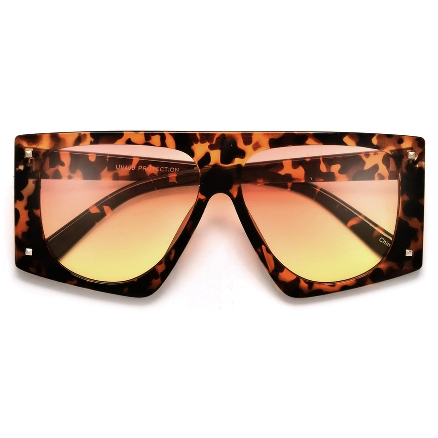 Oversize Bold Studded Accent Sunglasses