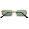 SLIM RIMLESS RECTANGULAR WIRE TEMPLE CHIC COLORFUL SUNNIES