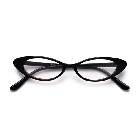 Retro Half Frame Flat Lens Cat Eye Sunnies