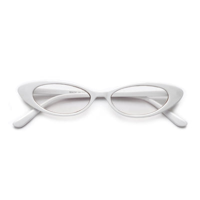 Ultra Thin 90s Clear Cat Eye Eyewear