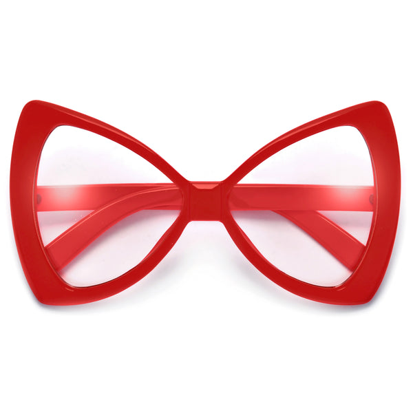 Oversized Bow Tie Design Fashion Fun Clear Eyewear