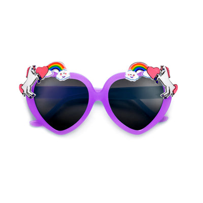 Adorable Kids Unicorn Decorated Heart Sunglasses - Sunglass Spot