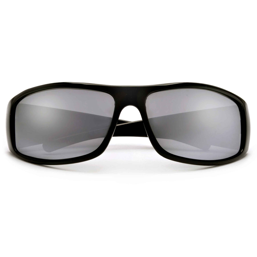 Polarized Oversize Large Profile Men's Lifestyle Wrap Around Sunglasses