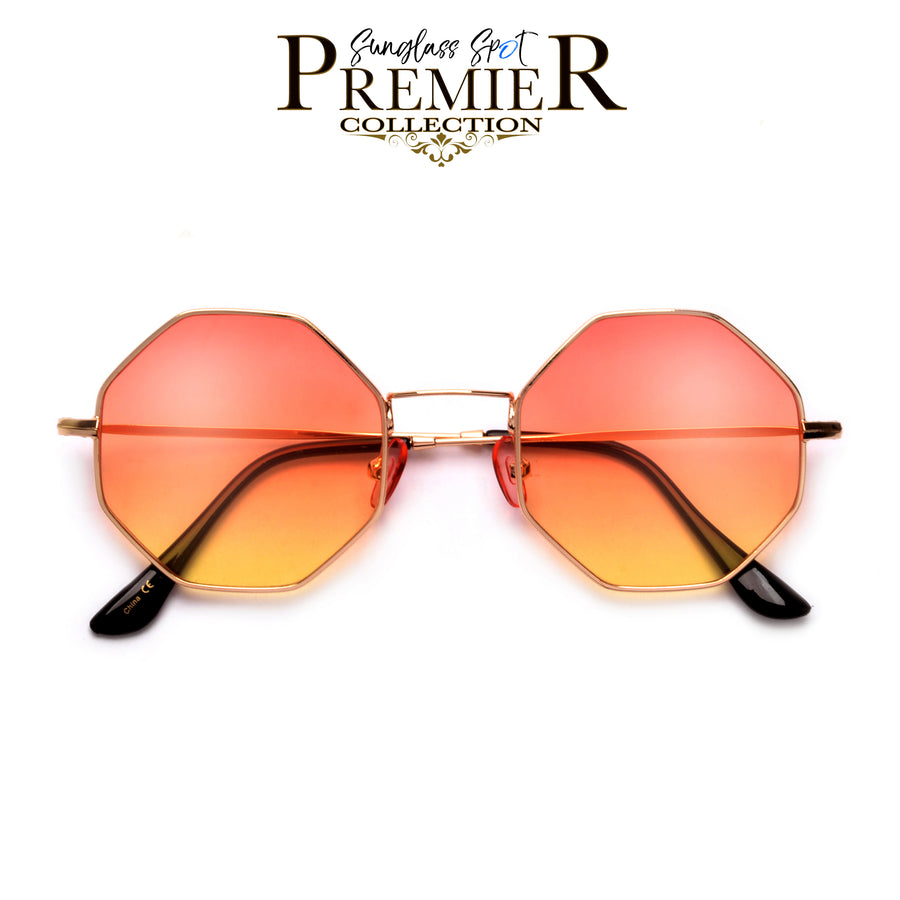 Premier Collection-Geometric Octaganol Shape Boho Chic Sunnies - Sunglass Spot